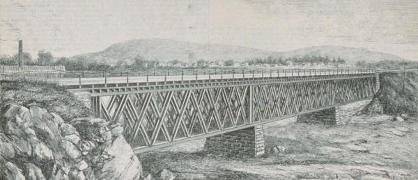 Pont traversant les carrières, Montréal, avril 1880 [BAnQ]