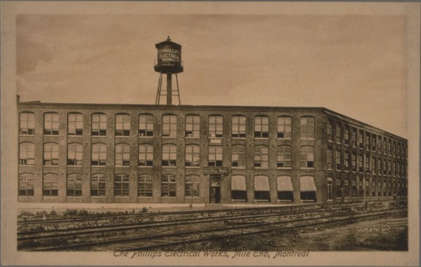 The Phillips Electrical Works Carte postale, début 20e s. – Post card, early 20 c. / BAnQ