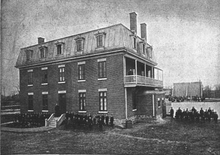 Figure 5 - École Saint-Louis, Clercs de Saint-Viateur, circa 1885. It was located on the north side of Fairmount Avenue, between Saint-Laurent and Saint-Dominique. (Les Clercs de Saint-Viateur au Canada…)