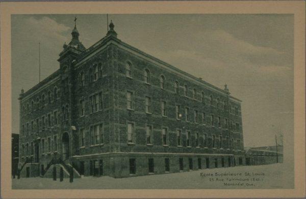 École Saint-Louis, carte postale, vers 1925 [BAnQ]