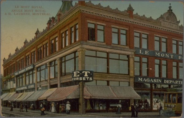 Le Mont-Royal, magasin départemental, vers 1912 / BAnQ, IRIS 0002633309