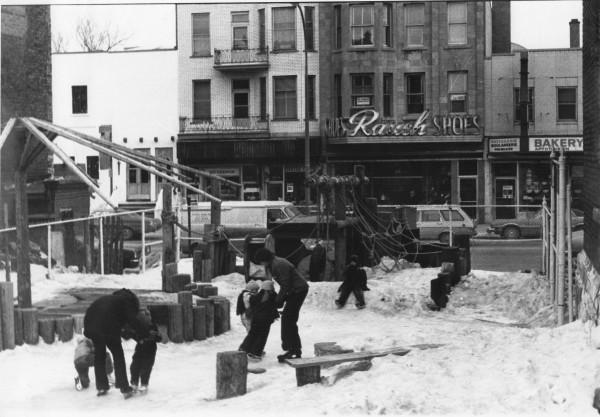 le parc Parasol en hiver. Armin Schuhmann, 7 mars 1978