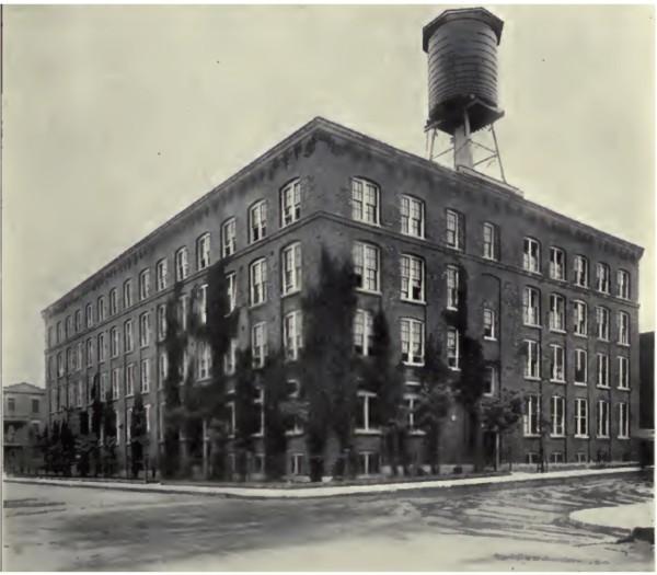 Figure 4 - Manufacture de vêtements Campbell, rue Elmire, en 1913 (Lorenzon Prince et al., Montreal, Old and New, International Press Syndicate, 1913).