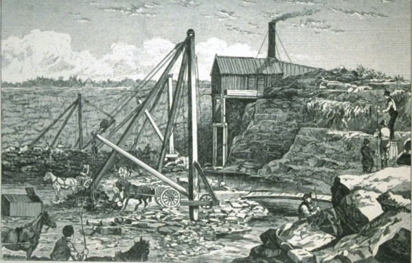 «Sketches in the Montreal Quarries», Canadian Illustrated News, 1877 (BAnQ)