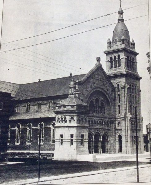 Église Saint-Georges, 1914 [<i>L'action ouvrière</i>, nov. 1914 – BAnQ]