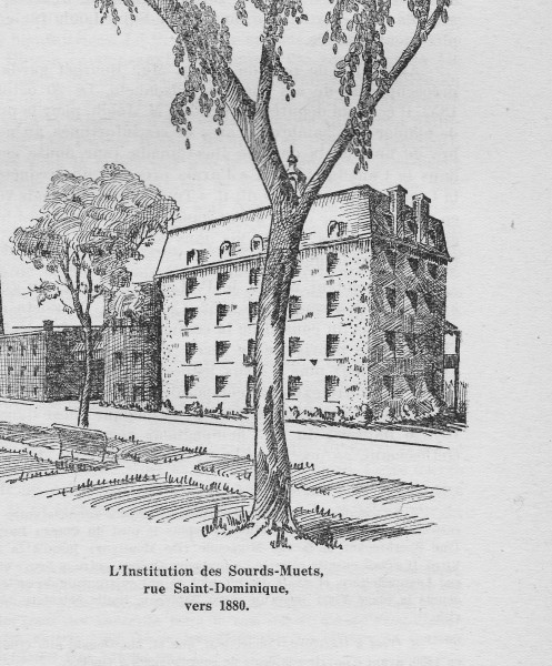 Figure 2 – The Institution, after the addition of two storeys, in 1878 (Les Clercs de Saint-Viateur au Canada...)