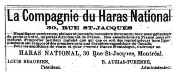 Figure 2 - Le Prix Courant, 15 novembre 1889, p. 6.