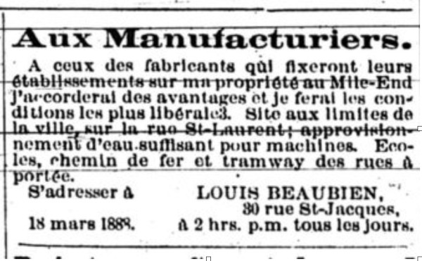 Figure 1 - Le Prix Courant, Vol 2, no 12, 25 mai 1888. p. 15.