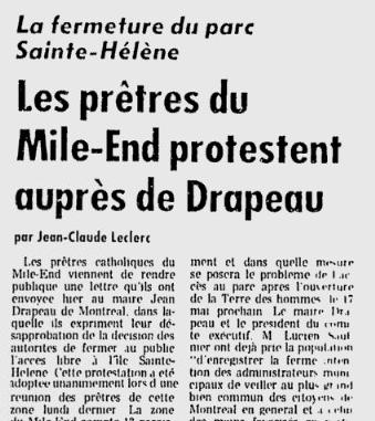 Figure 4 - Le Devoir, 2 mai 1968, p.1.