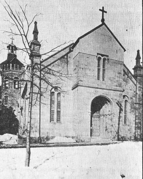 Figure 3 – The first Enfant-Jésus Church (Archives des Clercs de Saint-Viateur)