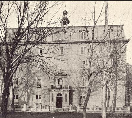 Institution des Sourds-Muets, rue Saint-Dominique, vers 1900 [Le diocèse de Montréal à la fin du 19e siècle – Société d'histoire du Plateau Mont-Royal]