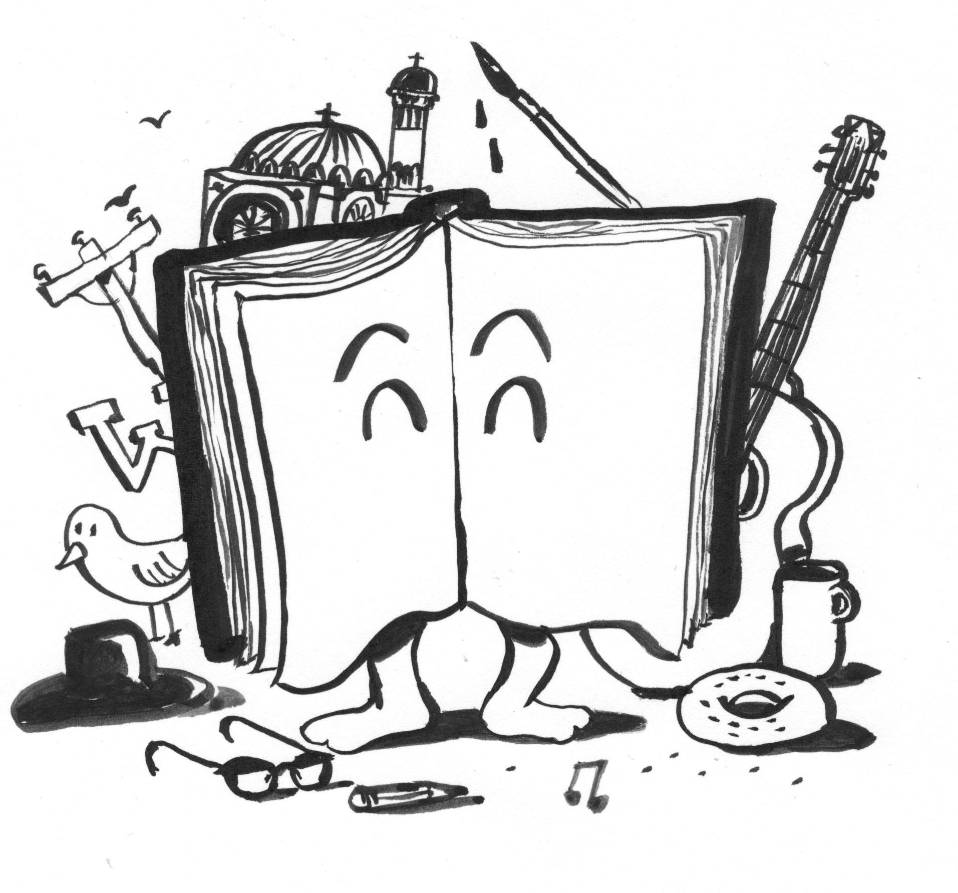 Dessin du livre vivant par Michel Hellman