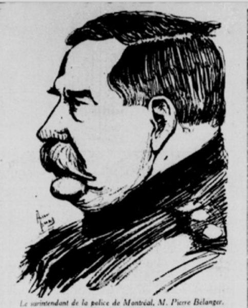 Le chef de la police de Montréal, Pierre Bélanger. La Patrie, 29 octobre 1924.